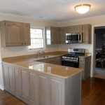 professional cabinet and furniture painting gray glazed kitchen