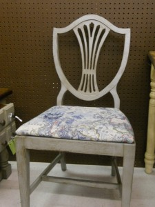 "This chair has my ""Bellagio"" finish on it. You can see it in person at my booth at Village Antiques and Home Decor , in Johnson City at 112 Sunset Drive, in the Kroger Shopping center off of Roan."