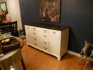 Gibbons buffet furniture painting in johnson city by Vintage Chic Painting