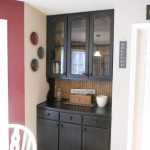 Antique white cabinets with brown glaze after photos.