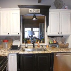 Cost effective kitchen updates sink topper idea