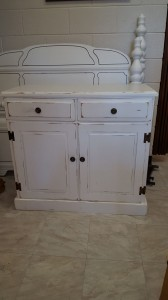 Shabby Chic White Painted Console